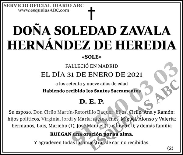 Soledad Zavala Hernández de Heredia