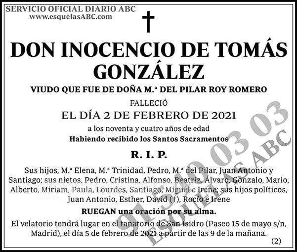 Inocencio de Tomás González