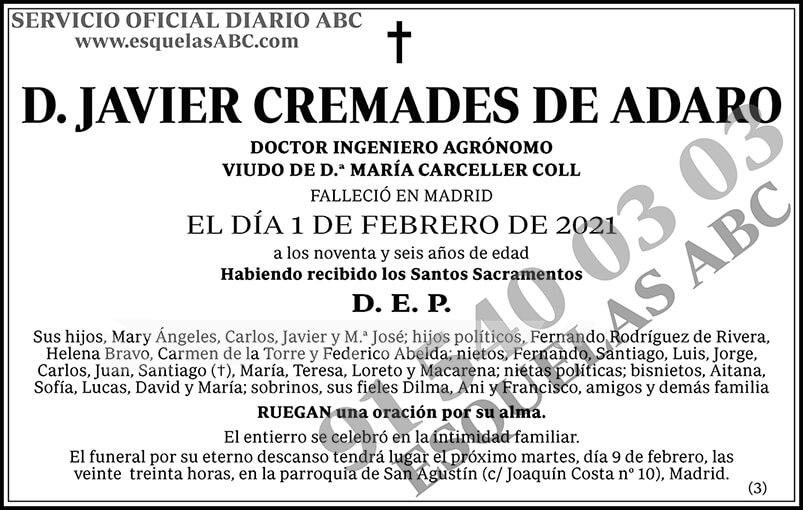 Javier Cremades de Adaro
