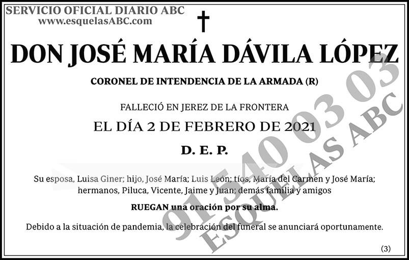 José María Dávila López