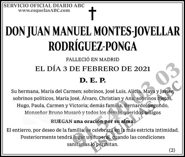 Juan Manuel Montes-Jovellar Rodríguez-Ponga