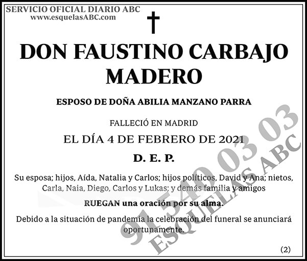 Faustino Carbajo Madero