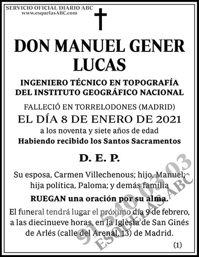 Manuel Gener Lucas
