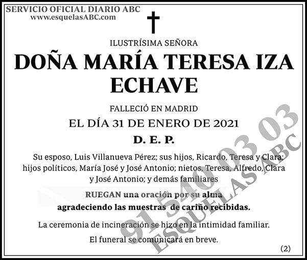 María Teresa Iza Echave