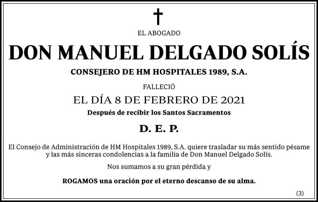 Manuel Delgado Solís
