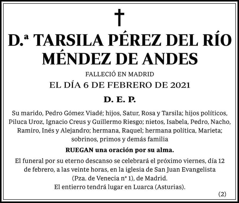 Tarsila Pérez del Río Méndez de Andes
