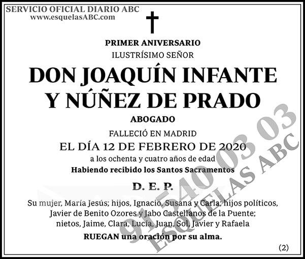 Joaquín Infante y Núñez de Prado