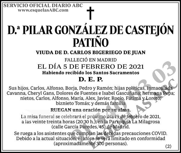 Pilar González de Castejón Patiño