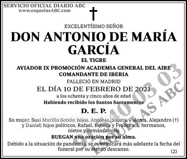 Antonio de María García