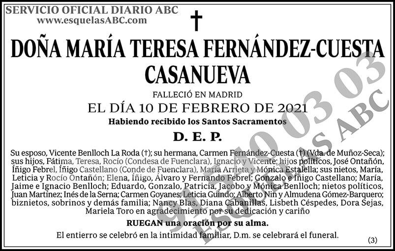 María Teresa Fernández-Cuesta Casanueva