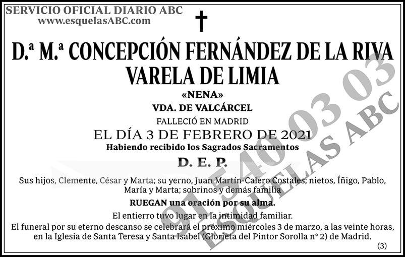 M.ª Concepción Fernández de la Riva Varela de Limia