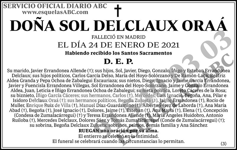 Sol Delclaux Oraá