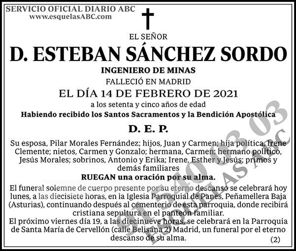 Esteban Sánchez Sordo