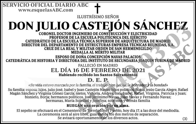 Julio Castejón Sánchez