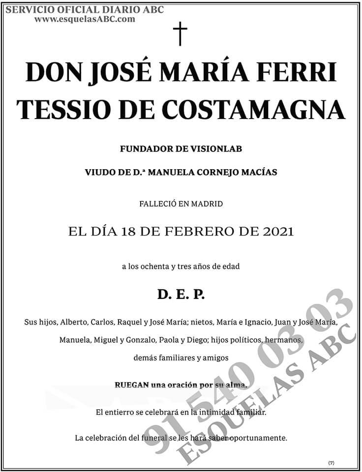 José María Ferri Tessio de Costamagna