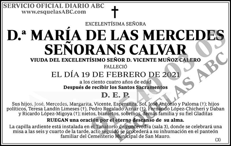 María de las Mercedes Señorans Calvar