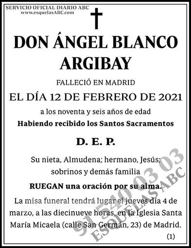 Ángel Blanco Argibay