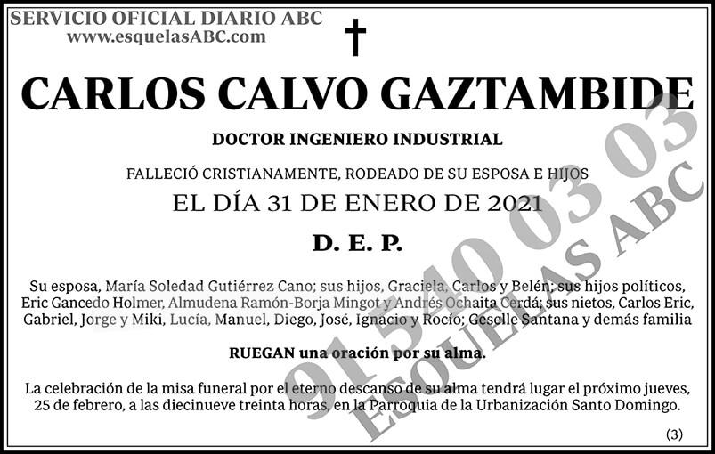 Carlos Calvo Gaztambide