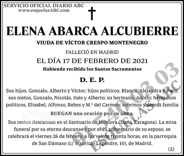 Elena Abarca Alcubierre