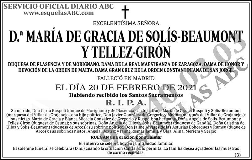 María de Gracia de Solís-Beaumont y Tellez-Girón