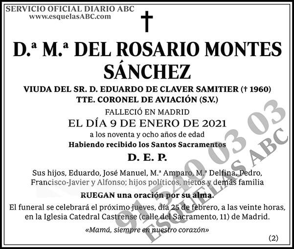 M.ª del Rosario Montes Sánchez