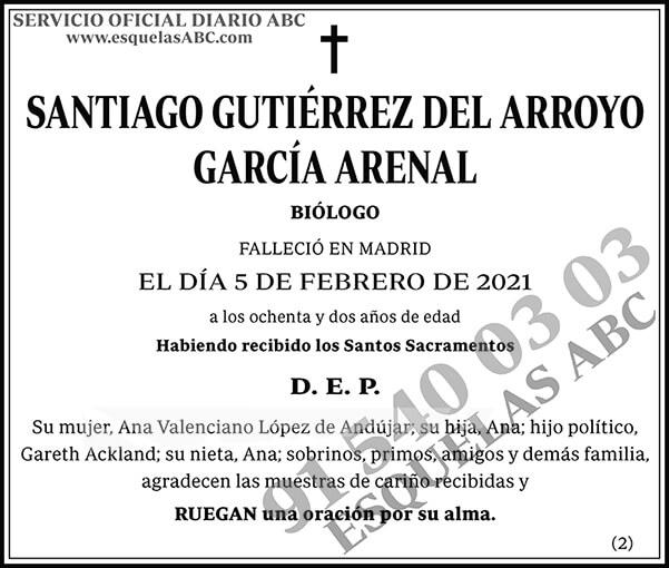 Santiago Gutiérrez del Arroyo García Arenal