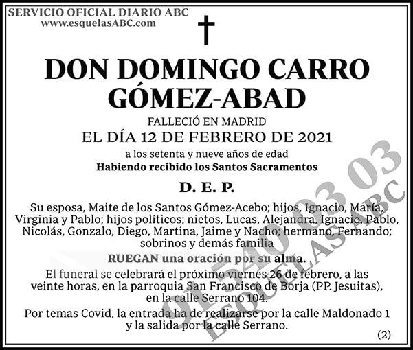 Domingo Carro Gómez-Abad