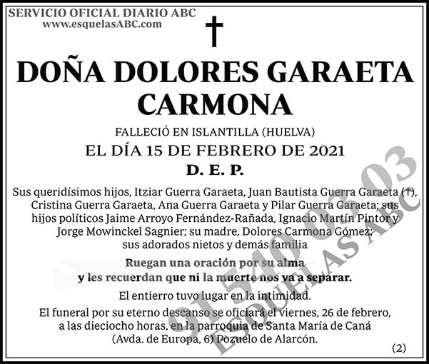 Dolores Garaeta Carmona