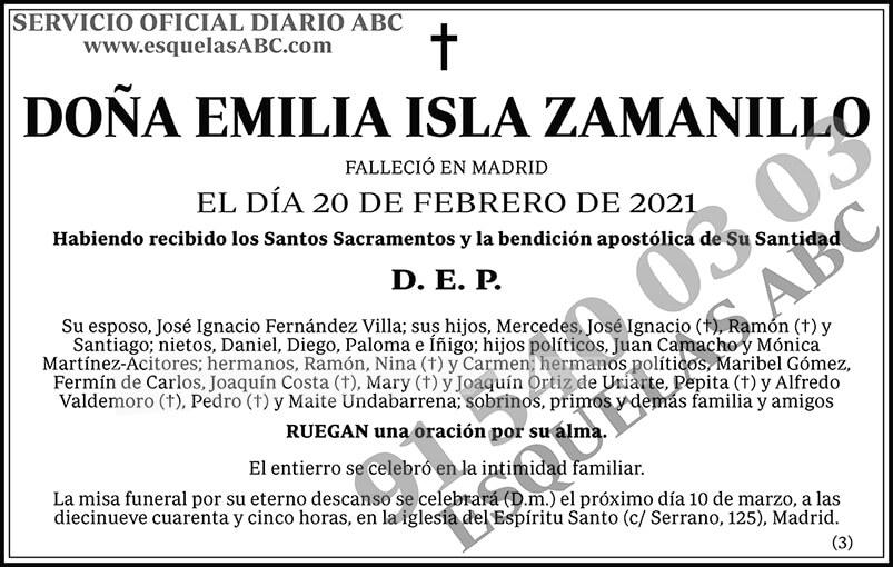 Emilia Isla Zamanillo
