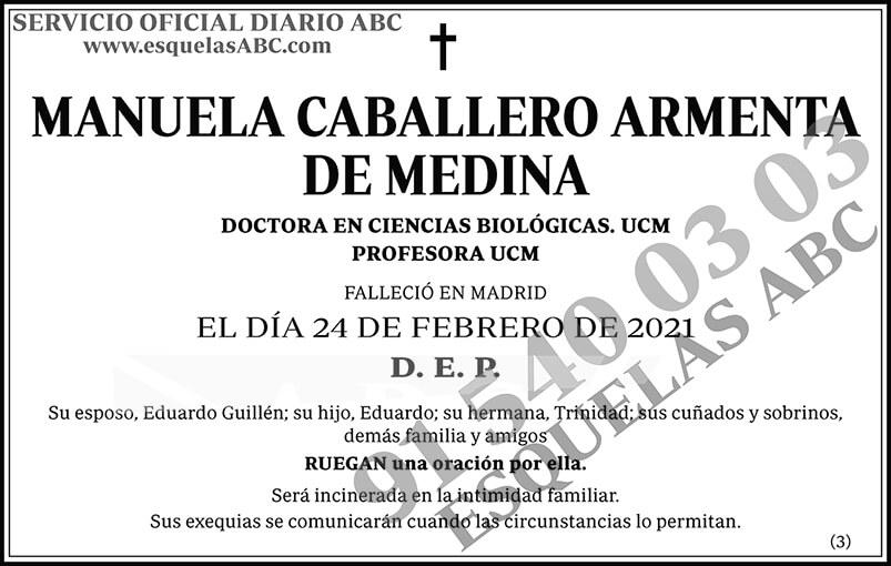 Manuela Caballero Armenta de Medina