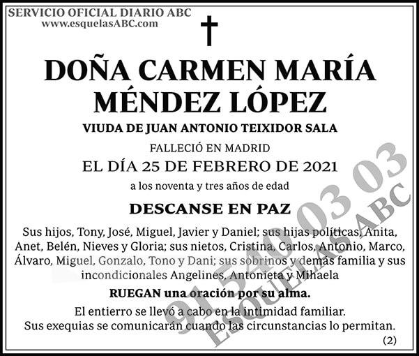 Carmen María Méndez López