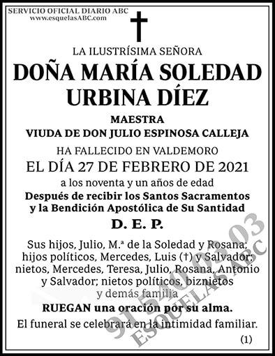 María Soledad Urbina Díez
