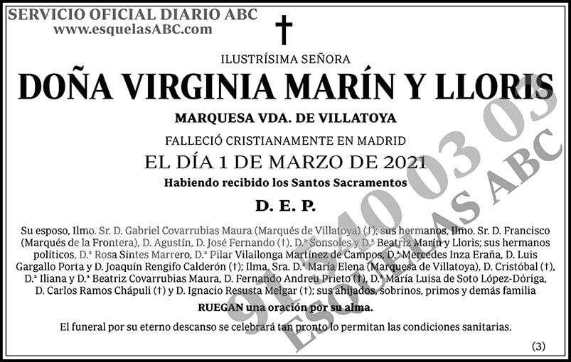 Virginia Marín y Lloris