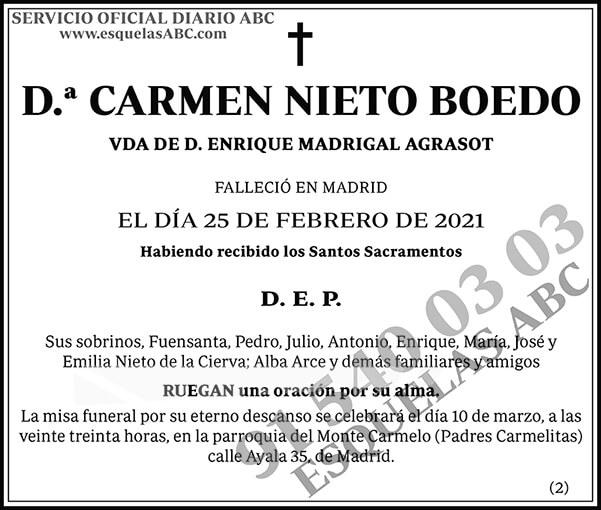 Carmen Nieto Boedo