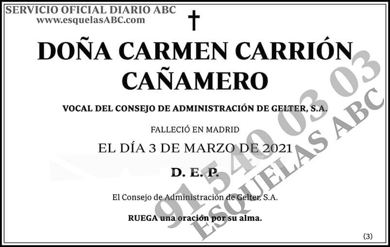 Carmen Carrión Cañamero