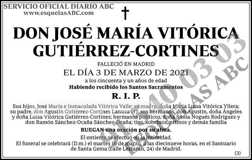 José María Vitórica Gutiérrez-Cortines