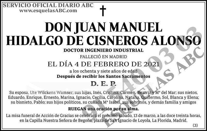 Juan Manuel Hidalgo de Cisneros Alonso