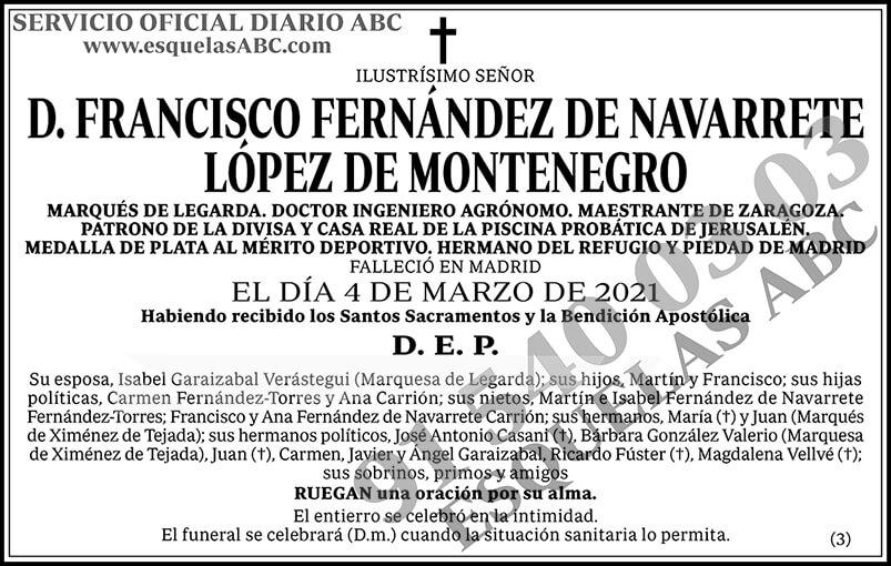 Francisco Fernández de Navarrete López de Montenegro