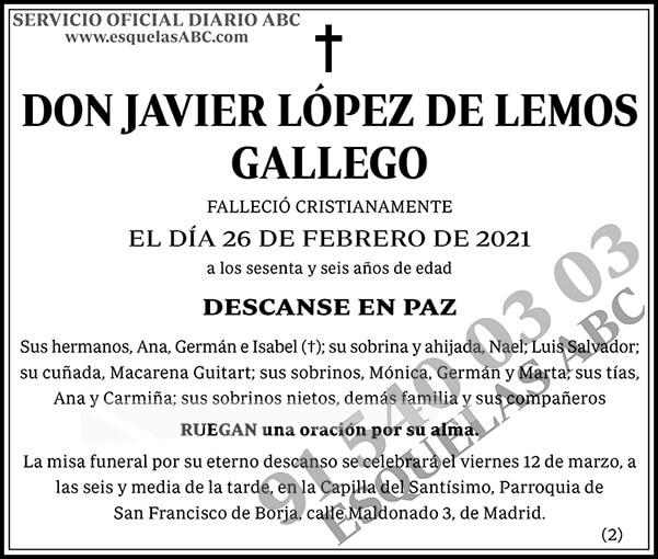 Javier López de Lemos Gallego