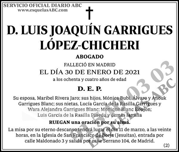 Luis Joaquín Garrigues López-Chicheri