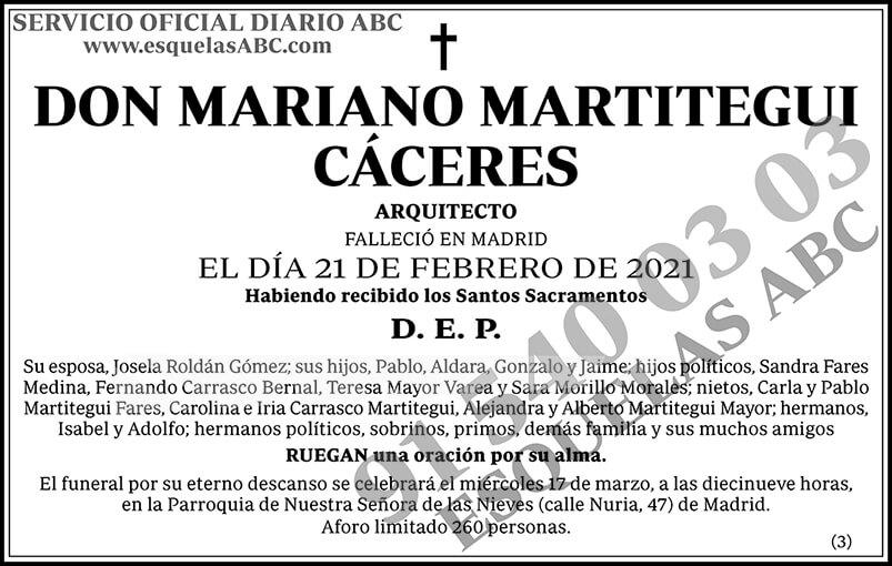 Mariano Martitegui Cáceres