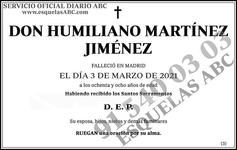 Humiliano Martínez Jiménez