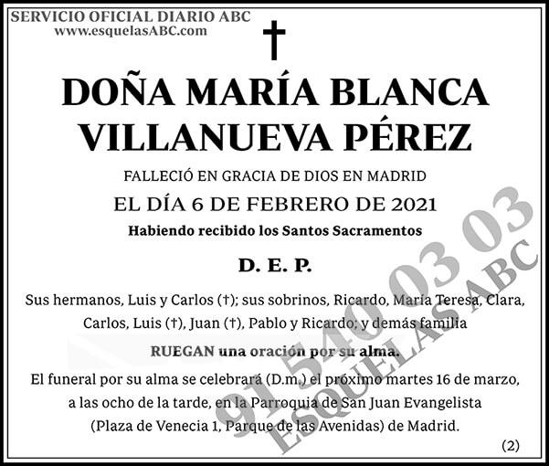 María Blanca Villanueva Pérez