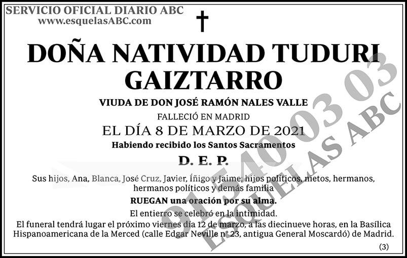 Natividad Tuduri Gaiztarro