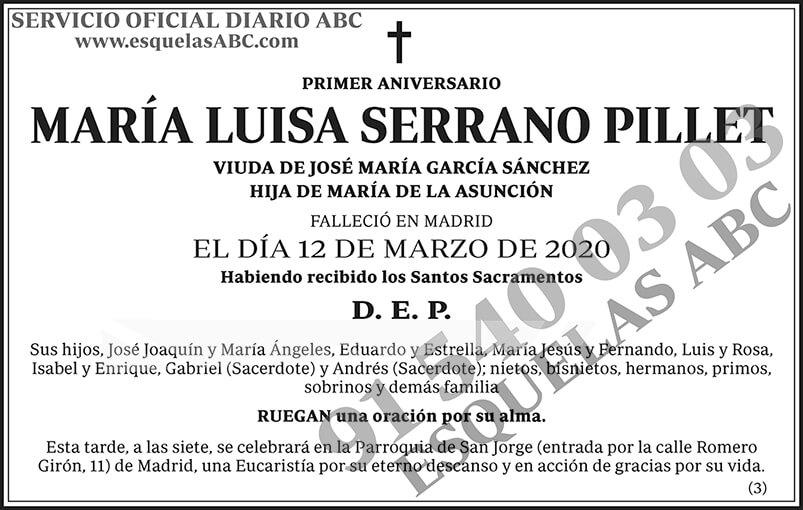 María Luisa Serrano Pillet
