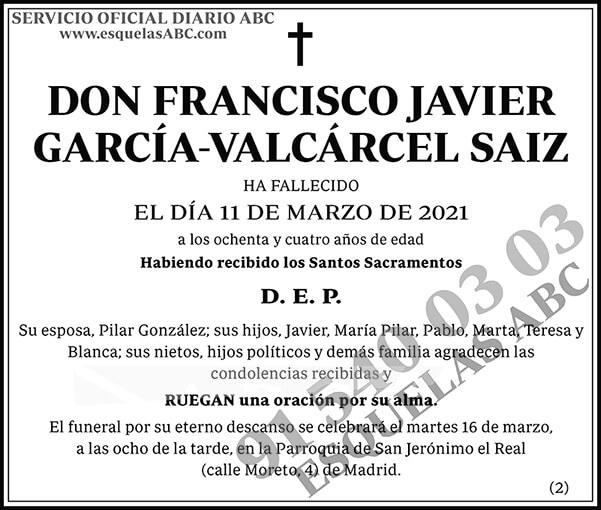 Francisco Javier García-Valcárcel Saiz