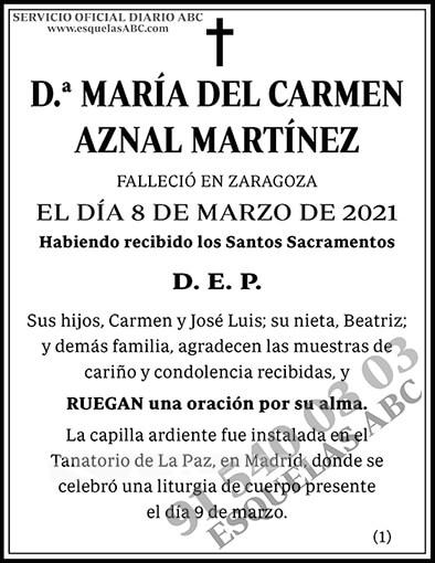 María del Carmen Aznal Martínez