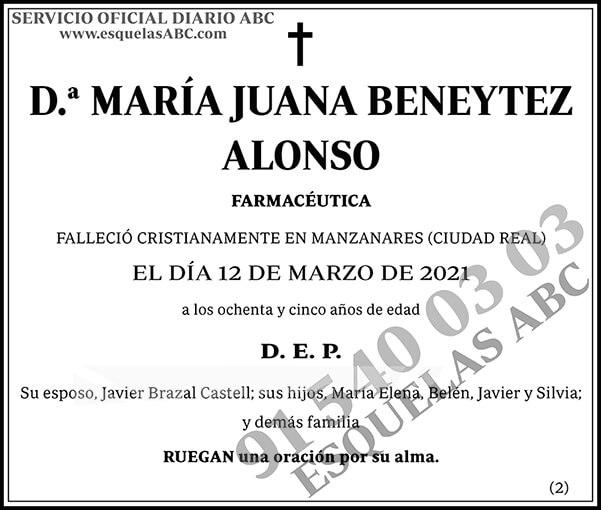 María Juana Beneytez Alonso