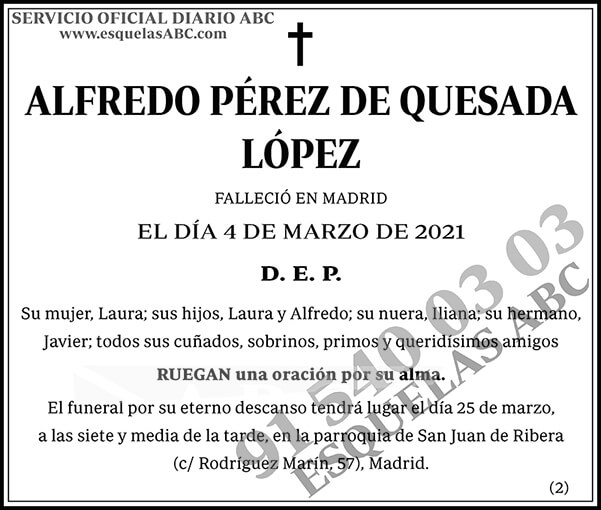 Alfredo Pérez de Quesada López