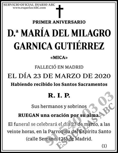 María del Milagro Garnica Gutiérrez